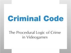 Criminal Code