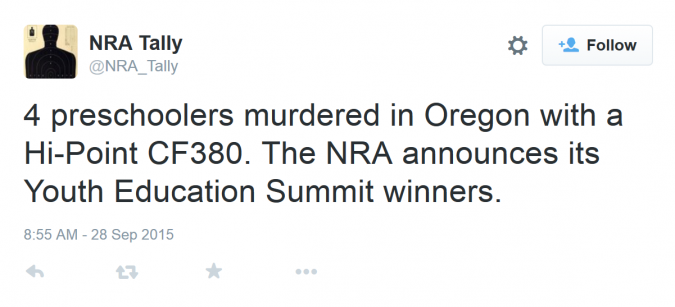 Tweet from @NRA_Tally